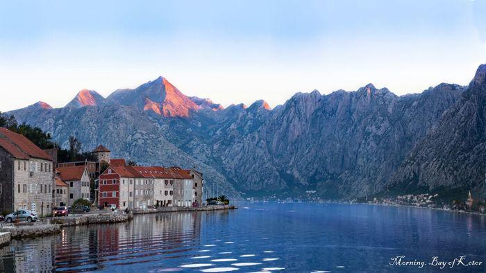 Очень раннее утро. Которский залив, Черногория.
