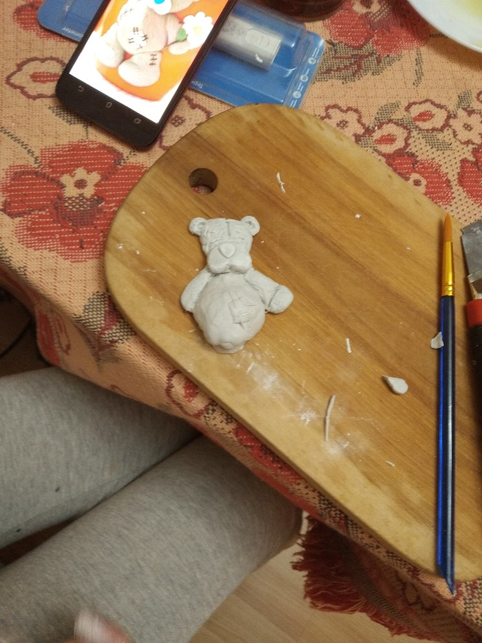 Полимерная глина Рукоделие с процессом, Кружка, Мишка тедди, Полимерная глина, Длиннопост