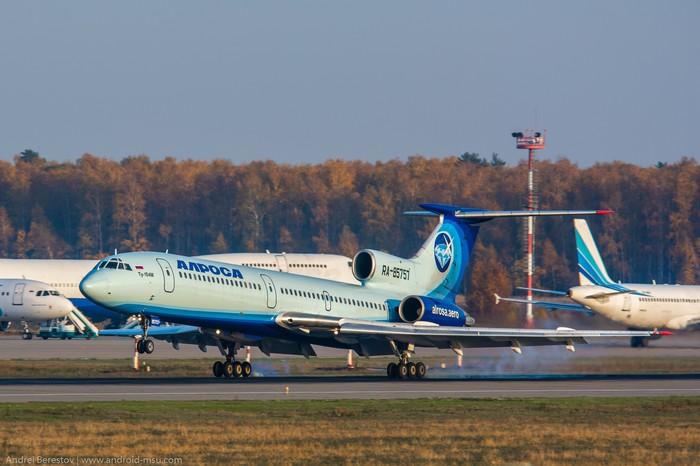 Ту-154М Ту-154, Авиация, Гражданская авиация, Споттинг, Алроса