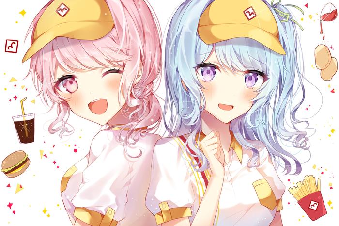 Anime Art №1488 Аниме, Anime Art, BanG Dream! Girls Band Party!, Maruyama aya, Matsubara kanon