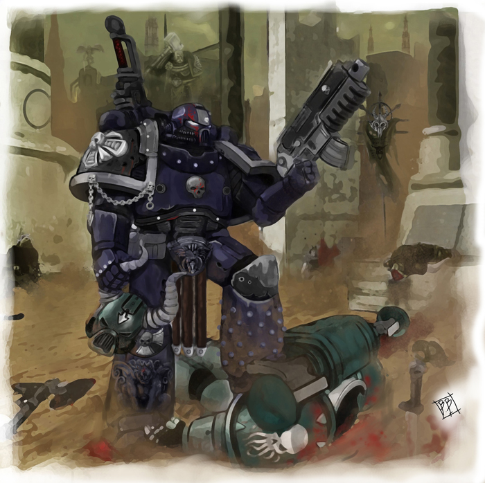 Warp Ghost Hunter by BrunoBrisson Warhammer 40k, Wh art, Космодесант, Chaos Space marines, Warp ghosts