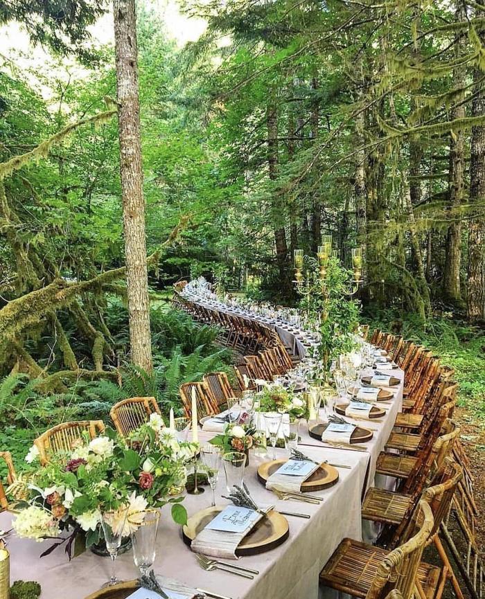 Необычный свадебный стол
