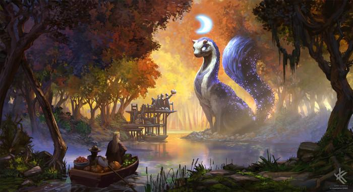 Бог ночи Арт, Рисунок, Божество, Фантазия
