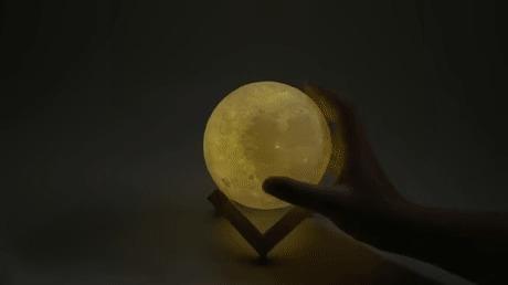 3D лунный светильник