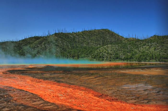 Земля Земля, Природа, Геотермальный источник, Grand Prismatic Spring, Длиннопост