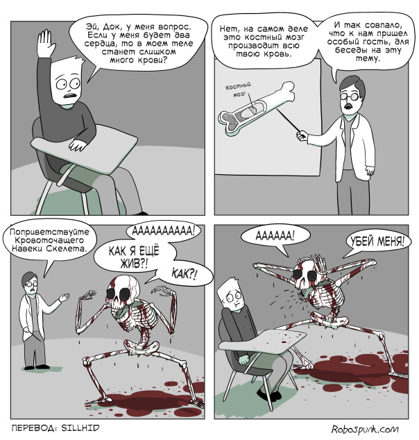 Бойся старой крови Хэллоуин, Скелет, Перевод, Комиксы, Robospunk
