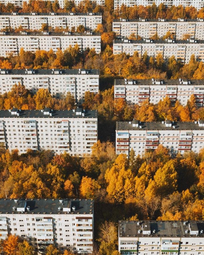 Панельный рай Москва, Чертаново, Фотография, Осень, Квадрокоптер, DJI Mavic PRO, Дрон