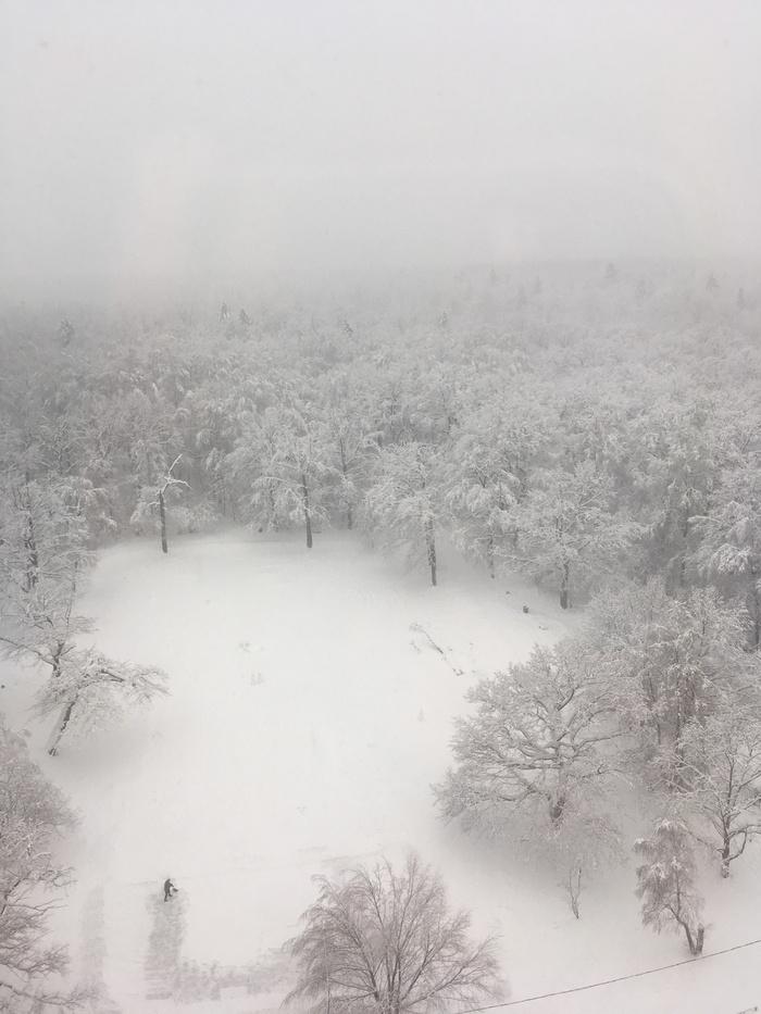 Осенью и зимой. Осень, Зима, До и после, Вид из окна, МКАД, Длиннопост