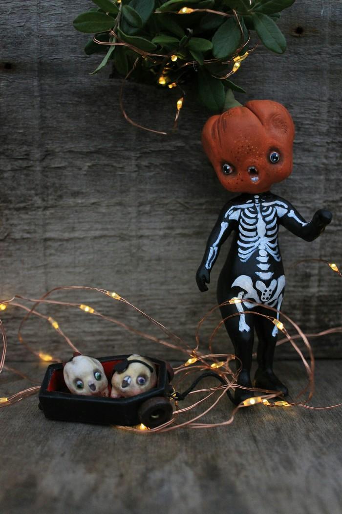 Сладость или гадость??! Хэллоуин, Trick Or treat, Полимерная глина, Ladoll, Длиннопост