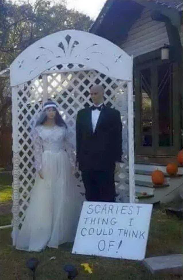 Когда фантазия на Хэллоуин иссякла Хэллоуин, Свадебный наряд, Страшилка