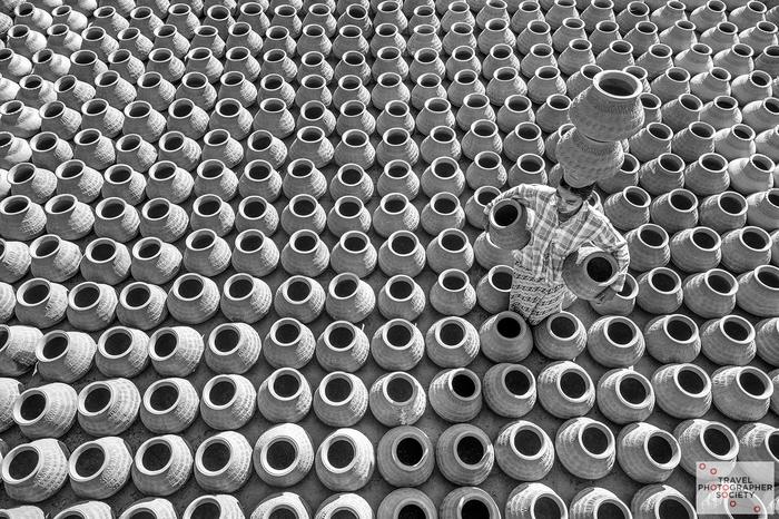 Не боги горшки обжигают... Черно-Белое фото, Гончарное дело, Мьянма