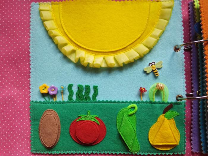 Развивающая книжка для малышки на 1 год. Рукоделие, Рукоделие без процесса, Фетр, Развивающее, Детские книжки, Хобби, Длиннопост