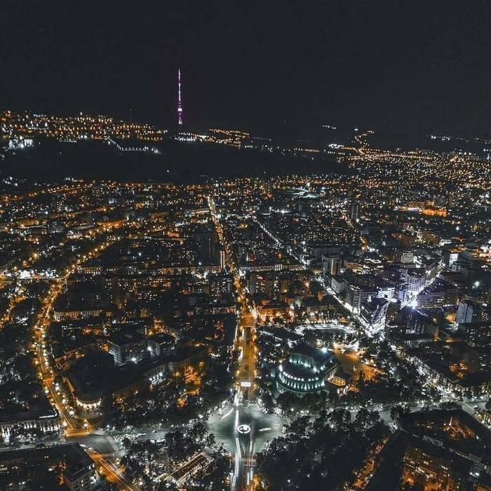 Ночной Ереван Ереван, Армения, Фотография
