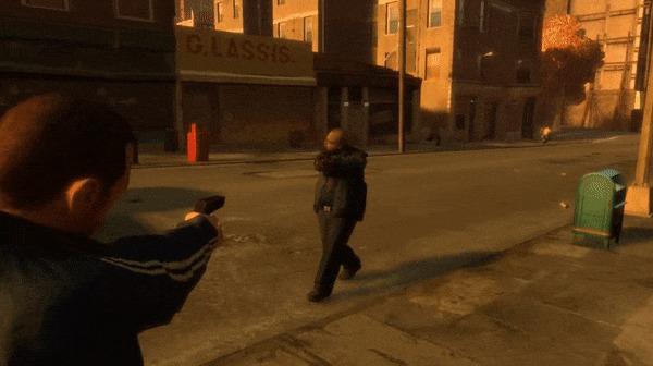 Секрет реалистичной анимации GTA IV Игры, Компьютерные игры, GTA 5, GTA, Rockstar, Технологии, Графика, Компьютерная графика, Гифка, Длиннопост