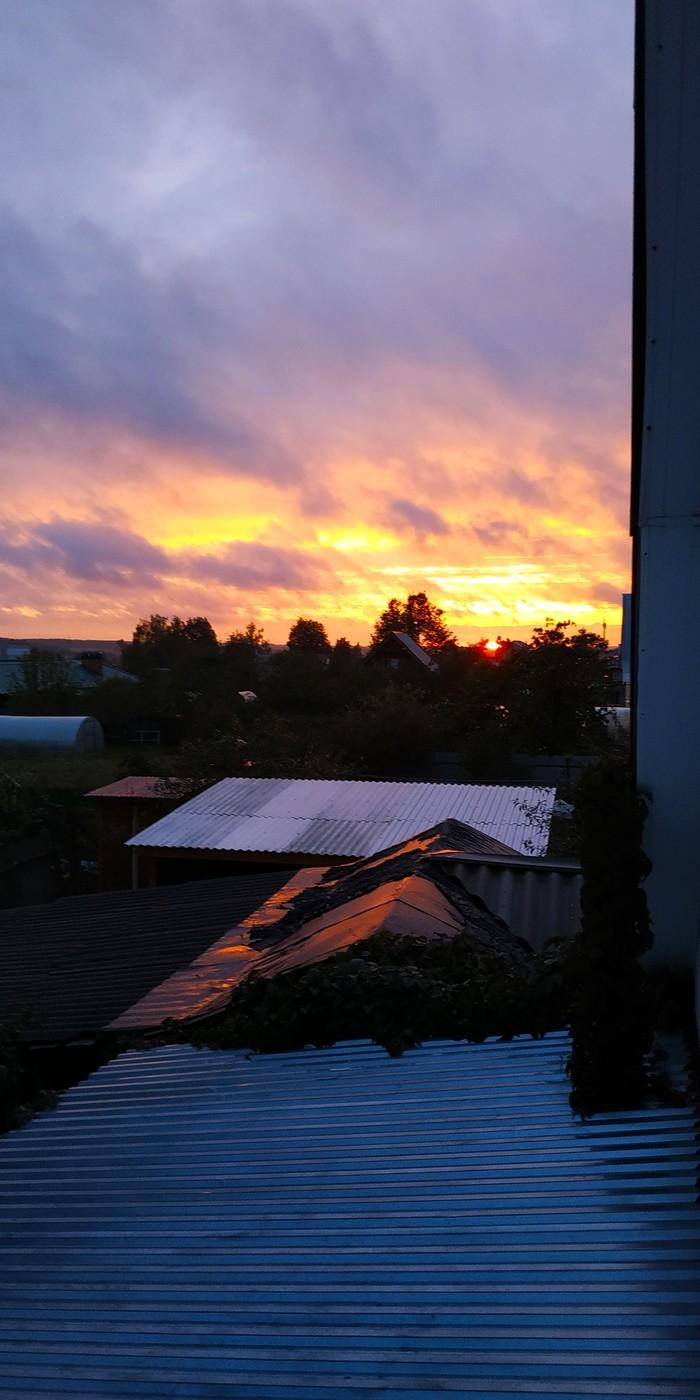 Незабываемый закат Закат, Небо