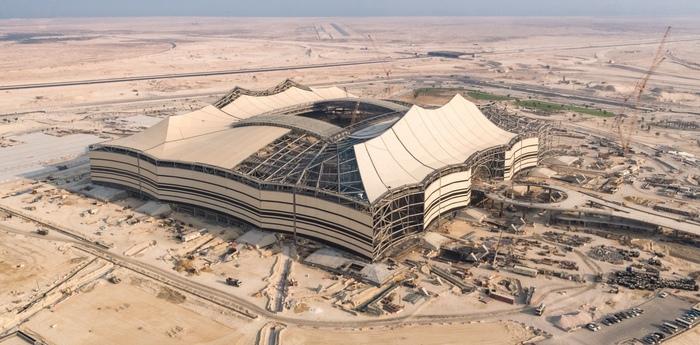Строительство стадиона к ЧМ в Катаре среди пустыни Стадион, Катар, Чемпионат мира по футболу, Пустыня