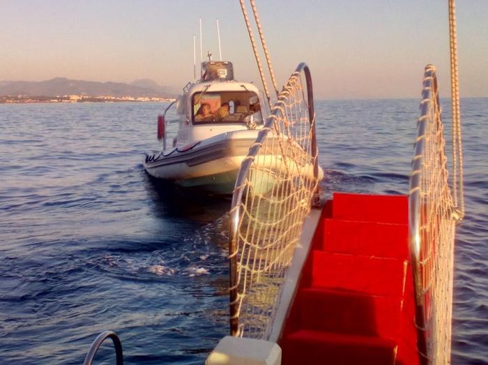 Морская прогулка Море, Прогулка, Турция, Береговая охрана, Длиннопост