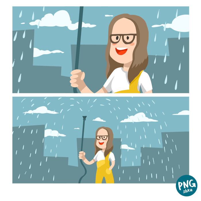 Дождливенько!