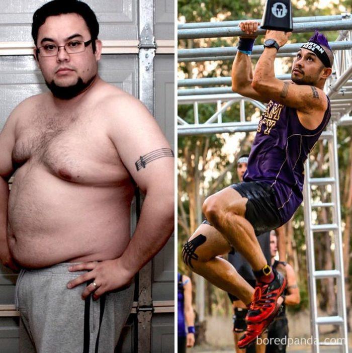 Толстый быстро похудел