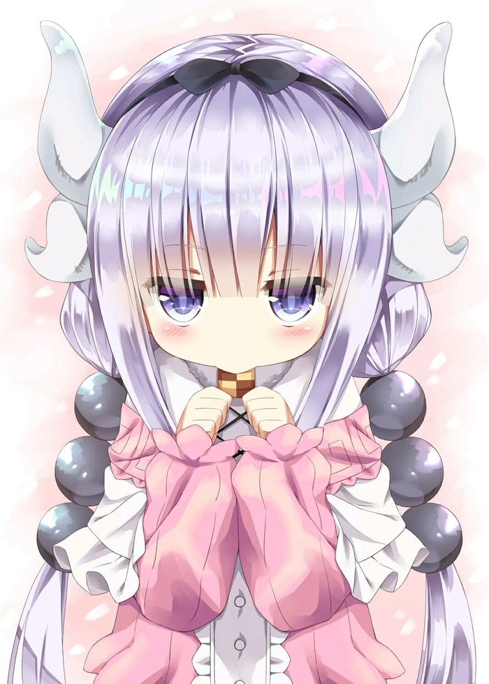 Kanna with a cookie
