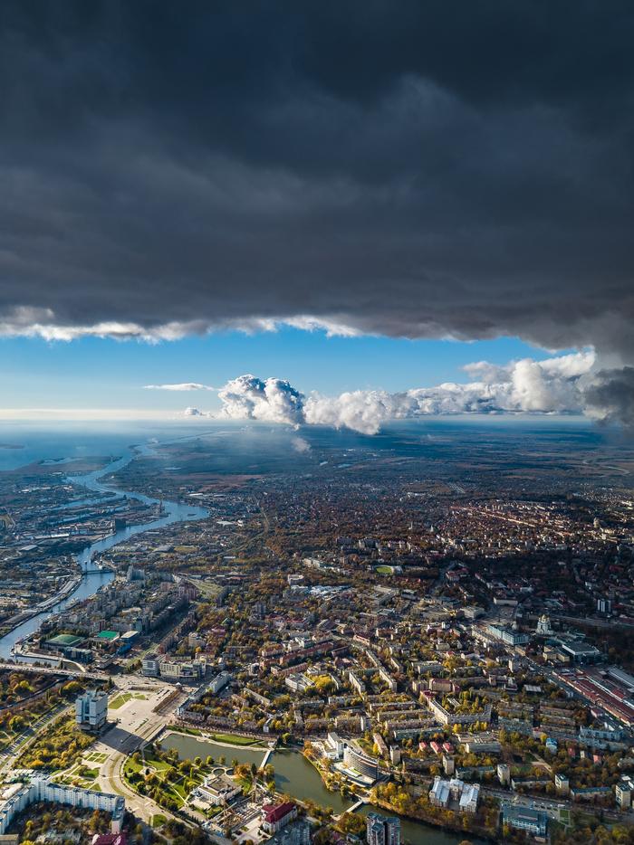 Калининград с высоты Калининград, Дрон, DJI, DJI Mavic PRO, Квадрокоптер, Hdr, Погода, Фотография