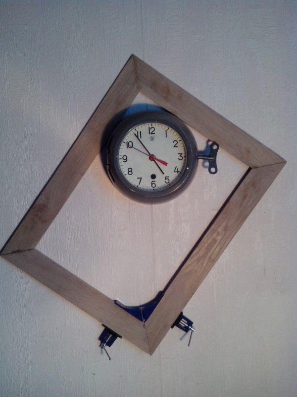 Рама, светильник, часы. Стимпанк, Хендмейд светильник, Ламповые часы, Картина, Длиннопост