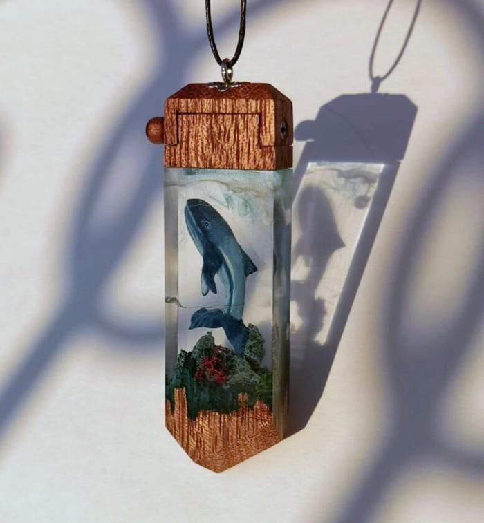 Кулон с китом Ручная работа, Своими руками, Кит, Кулон, Рукоделие, Длиннопост