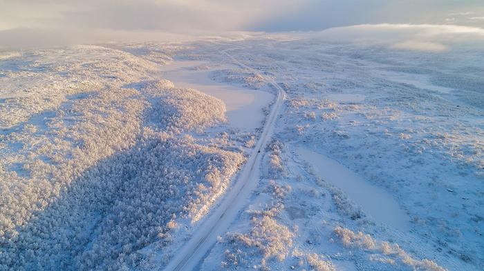 А у нас выпал снег... Пейзаж, Природа, Кольский полуостров, Тундра, Квадрокоптер