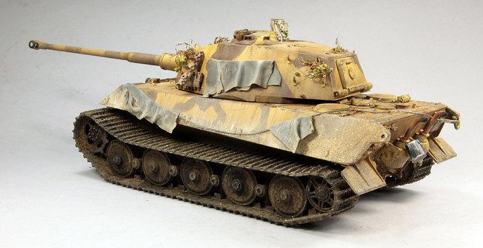 Sd.Kfz.182 King Tiger БТТ, Стендовый моделизм, Моделизм, Танки, Королевский тигр, Масштаб, Аэрограф, Длиннопост