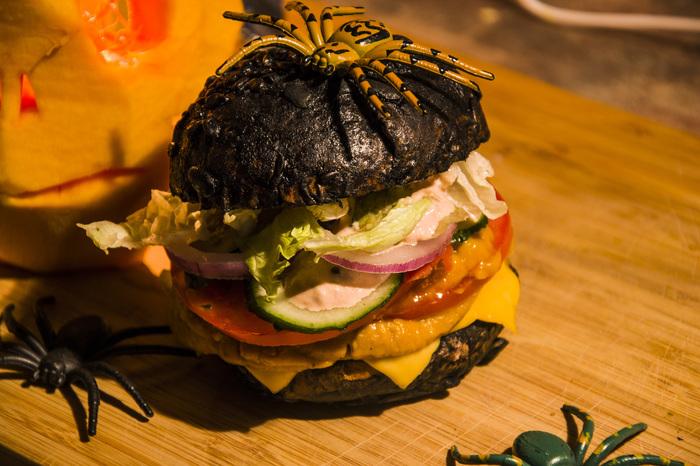 Halloween бургер с тыквенным соусом Еда, Рецепт, Бургер, Хэллоуин, Тыква, Мясо, Индейка, Dinoburger, Длиннопост