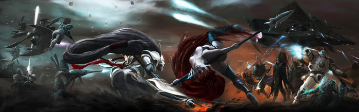 Лилит, Джаин Зар, Тенесолнце и другие. Warhammer 40k, Wh art, Dark Eldar, Eldar, Tau