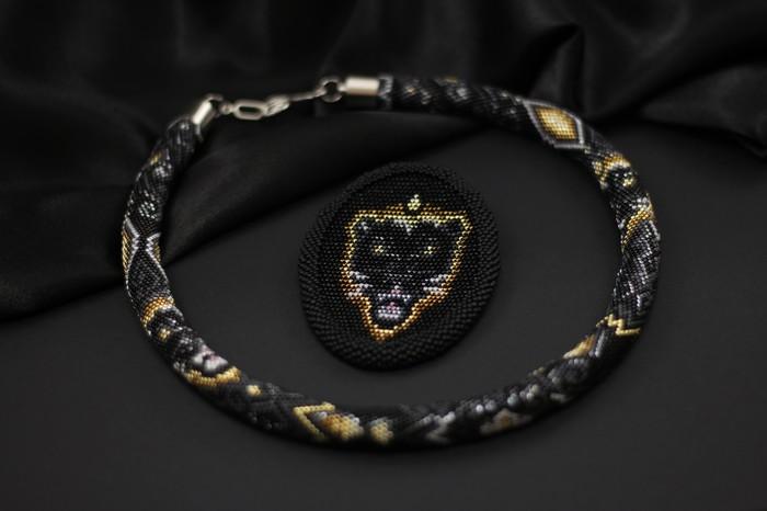 Черная пантера Жгуты из бисера, Бисер, Рукоделие, Черная пантера, Длиннопост