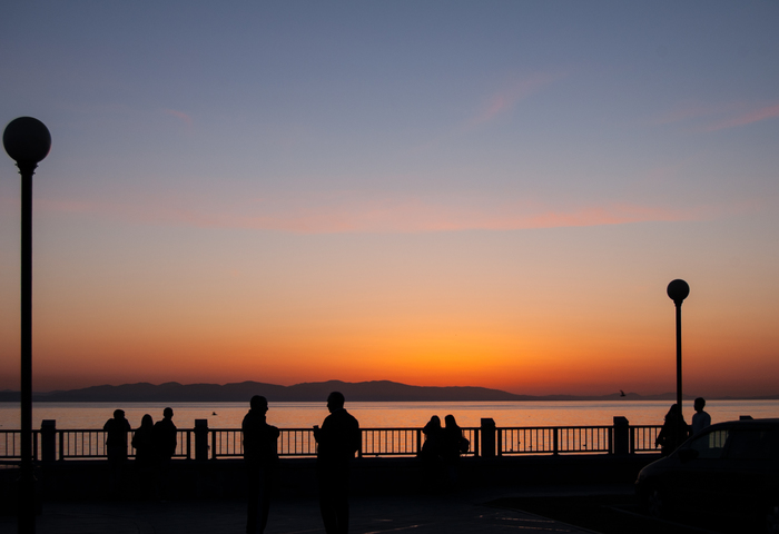 Было тепло... Владивосток, Закат, Море, Nikon, Nikon D40