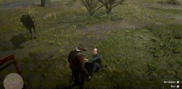 Отдай мне все свои деньги или закончишь как эта птица... Red Dead Redemption 2, Imgur, Гифка
