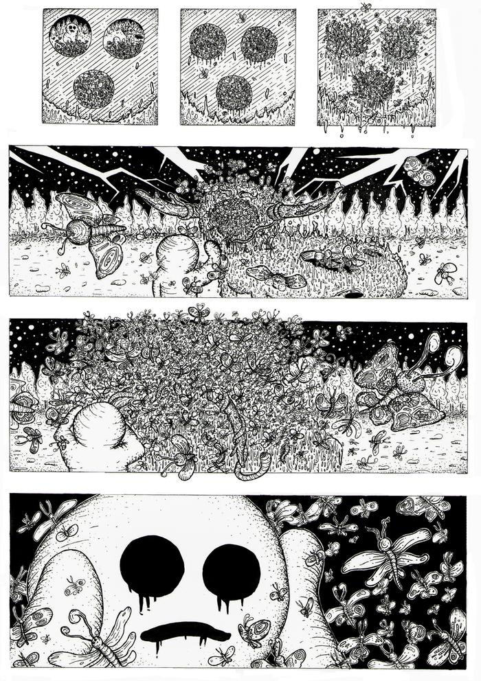 """BARDO THODOL"" - Хоррор комикс (Часть 2) Комиксы, Веб-Комикс, Арт, Иллюстрации, Картинки, Графика, Хоррор, Длиннопост"