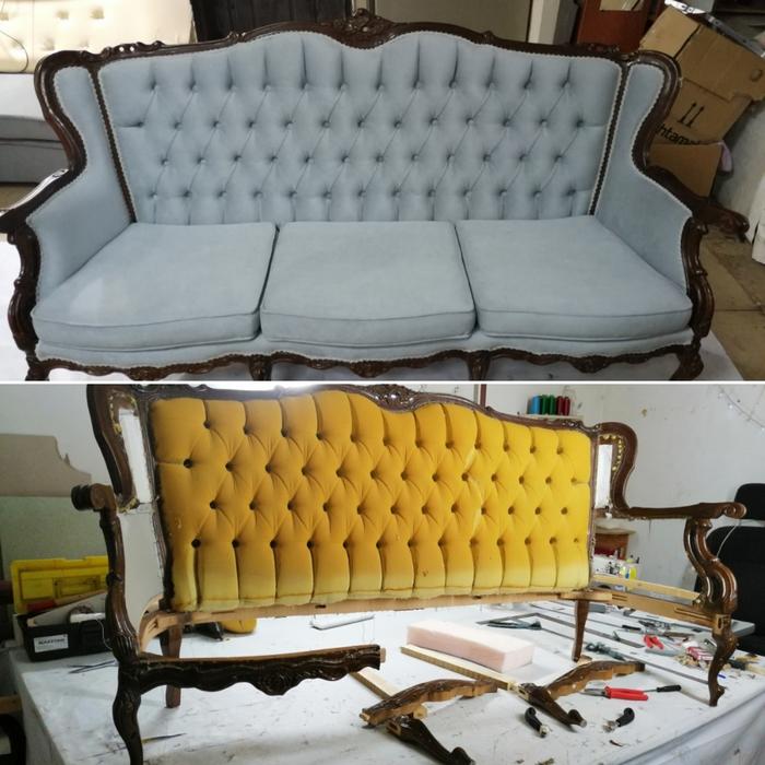 Мое пятничное без процесса(перетяжка мебели) Мебель, Реставрация мебели, Длиннопост