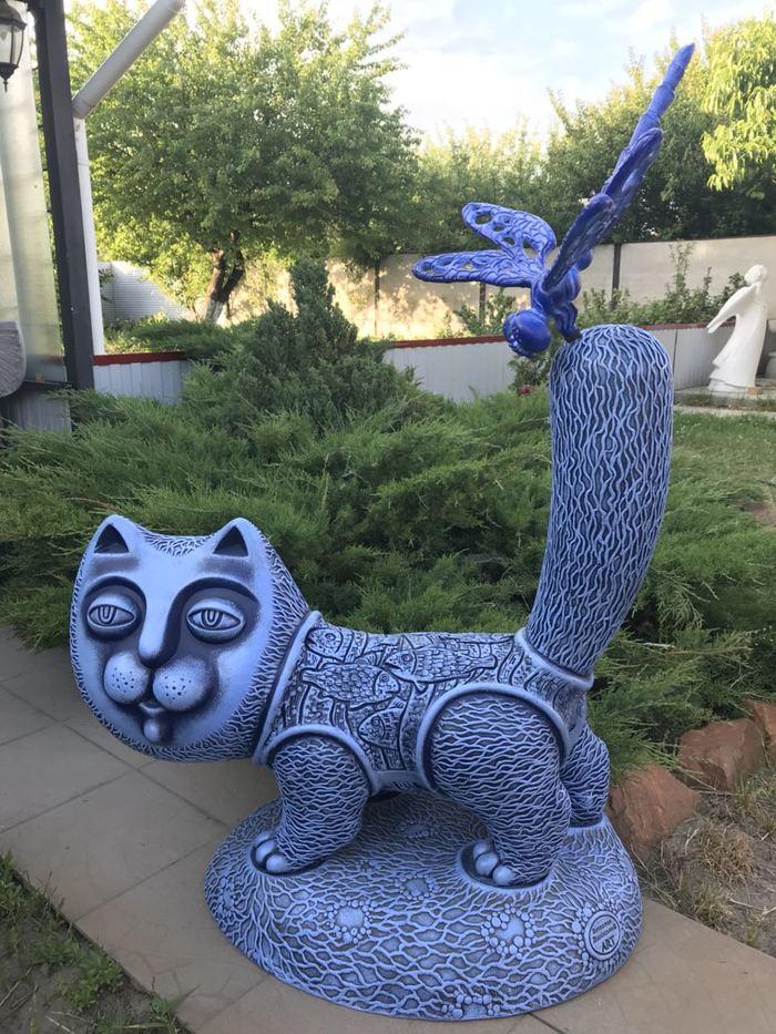 """Садово - парковая скульптура из искусственного камня """" Кот- Баюн"""" Скульптура кота, Садово- парковая скульптура, Кот, Ландшафтный дизайн, Садовый декор, Длиннопост"""
