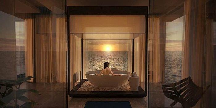 Подводная вилла- всего за $50000 за ночь Подводный мир, Отель, Красота, Дорого, Мальдивы