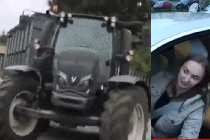 Кругом мерещится Женщина за рулем, BMW, Трактор