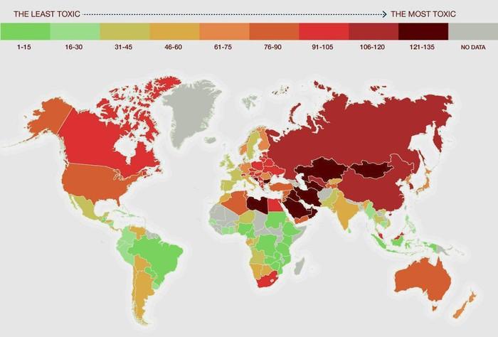 Самые загрязненные страны мира.