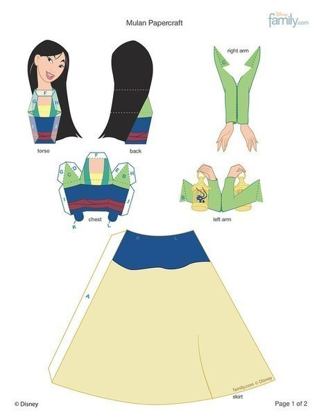 Аж руки зачесались... Рукоделие, Walt Disney Company, Принцесса, Длиннопост, Хобби, Шаблон, Поделки, Фигурки из бумаги, Принцессы диснея