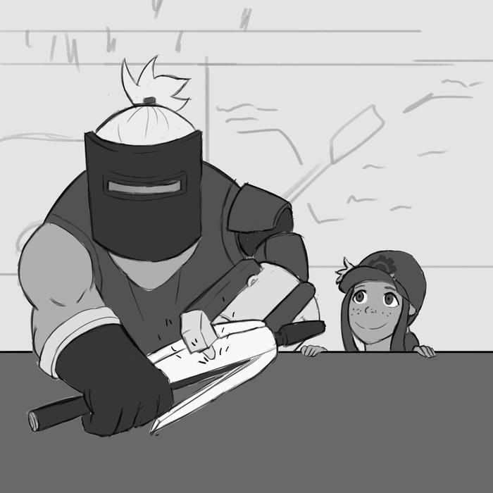 Безопасность превыше всего! Комиксы, Jalapenoghost, Overwatch, Torbjorn, Brigitte, Длиннопост