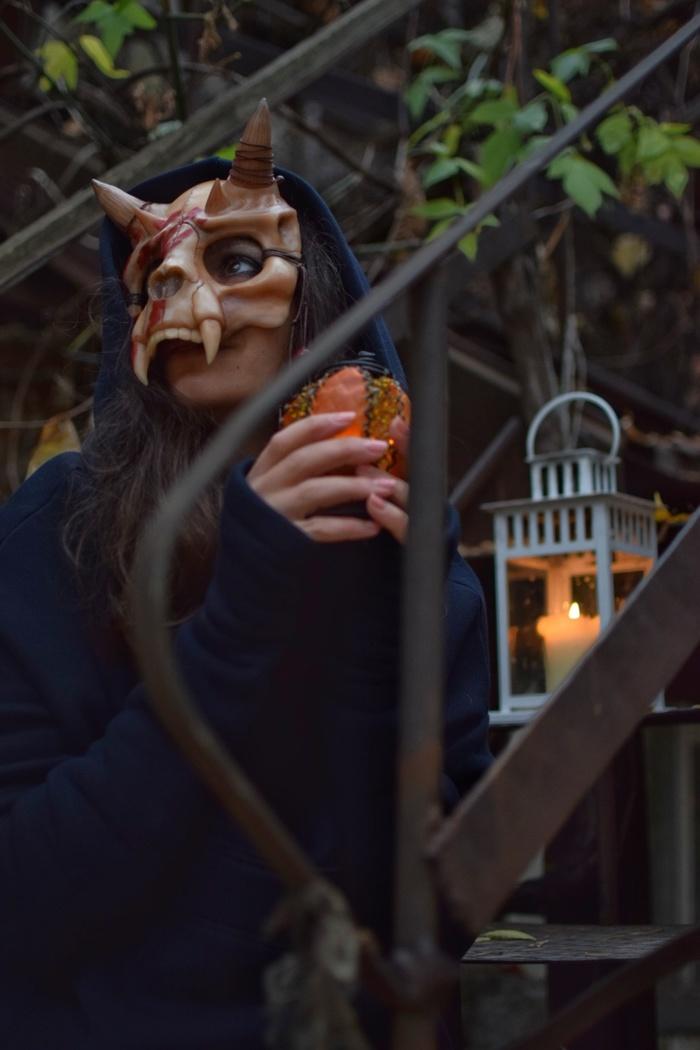 Демон фейспалма, Хэлоуинская маска из полимерной глины. OlhaARTS, Полимерная глина, Хэллоуин, Маска, Демон, Рукоделие, Длиннопост