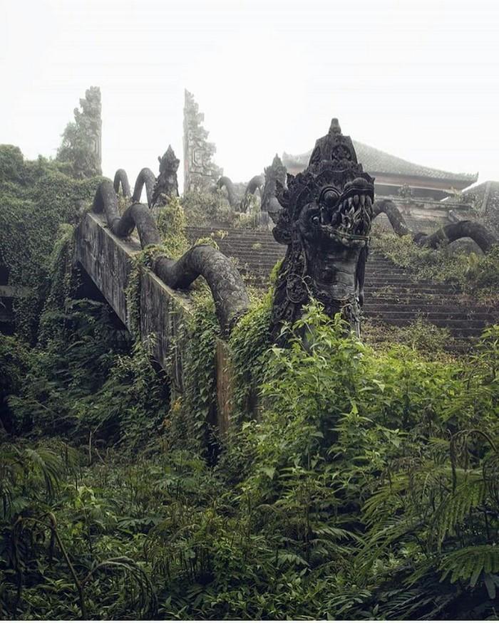 Заброшенный заросший храм.