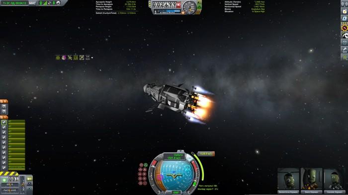 ЕВАНГЕЛИОН - полет к ИВ часть 1 Kerbal Space Program, Картинка из KSP, Ракетостроение, Космолет, Длиннопост