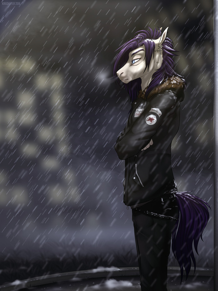Сегодня снежно My Little Pony, Original Character, Антро