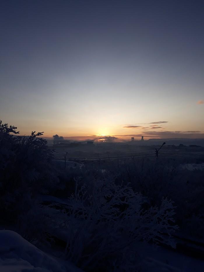 Заполярный Мурманск, Заполярье, Природа, Красота, Зима, Человек, Фотография