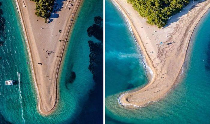 Пляж в Далмации после бури