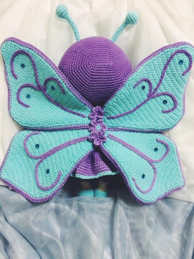 Новая Бонни-бабочка Вязание крючком, Бабочка, Рукоделие без процесса, Длиннопост