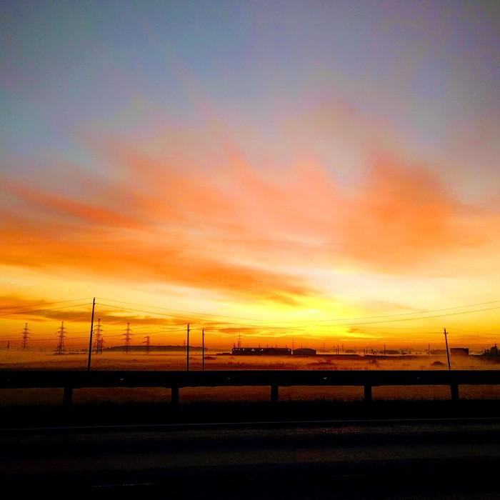 По дороге в аэропорт Природа, Фотография, Красота